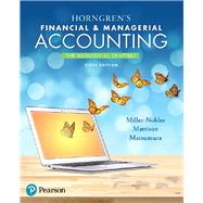 Horngren's Financial & Managerial Accounting, The Managerial Chapters Plus MyLab Accounting with Pearson eText -- Access Card Package by Miller-Nobles, Tracie L.; Mattison, Brenda L.; Matsumura, Ella Mae, 9780134674674