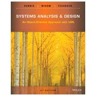 Systems Analysis & Design by Dennis, Alan; Wixom, Barbara Haley; Tegarden, David, 9781118804674