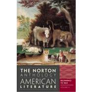 The Norton Anthology of American Literature (Eighth Edition) (Vol. A) by BAYM,NINA, 9780393934762