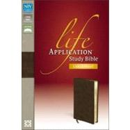 Life Application Study Bible: New International Version Distressed Brown Bonded Leather by Zondervan Publishing House, 9780310434771