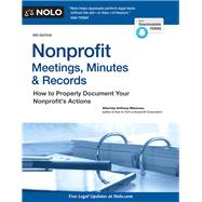 Nonprofit Meetings, Minutes & Records by Mancuso, Anthony, 9781413324785