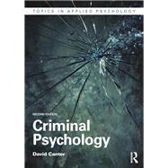 Criminal Psychology by Canter; David, 9780415714792