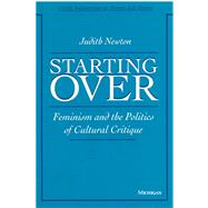 Starting over by Newton, Judith, 9780472094820