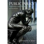Public Policy: Preferences and Outcomes by Simon; Christopher, 9780205744824