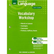 Holt Traditions Vocabulary Workshop; Vocabulary Workshop Grade 12 by WARRINER E, 9780030994845