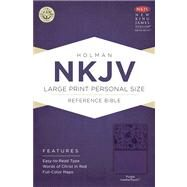 NKJV Large Print Personal Size Reference Bible, Purple LeatherTouch by Unknown, 9781433604850