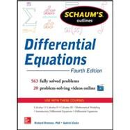 Schaum's Outline of Differential Equations, 4th Edition by Bronson, Richard; Costa, Gabriel, 9780071824859