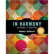 In Harmony Reading and Writing, MLA Update Edition by McWhorter, Kathleen T., 9780134644868
