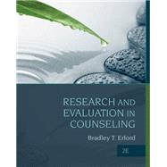 Research and Evaluation in Counseling by Erford, Bradley, 9781285454894