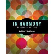 In Harmony Reading and Writing by McWhorter, Kathleen T., 9780133944914