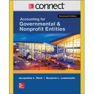 Connect Access Card for Accounting for Governmental & Nonprofit Entities by Reck, Jacqueline; Lowensohn, Suzanne; Wilson, Earl, 9781259294921