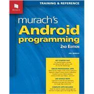 Murach's Android Programming by Murach, Joel, 9781890774936