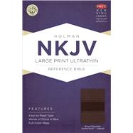 NKJV Large Print Ultrathin Reference Bible, Brown/Chocolate LeatherTouch Indexed by Holman Bible Staff, 9781433614941