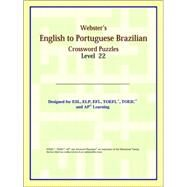 Webster's English to Portuguese Brazilian Crossword Puzzles: Level 22 by ICON Reference, 9780497254957