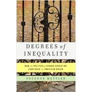Degrees of Inequality: How the Politics of Higher Education Sabotaged the American Dream by Mettler, Suzanne, 9780465044962