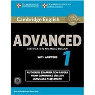 Cambridge English Advanced 1 with Answers by Cambridge University Pr, 9781107654969