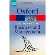A Dictionary of Business and Management by Law, Jonathan, 9780199684984
