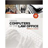 Using Computers in the Law Office (with Premium Web Site Printed Access Card) by Cornick, Matthew S., 9781337624985