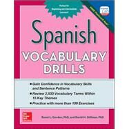 Spanish Vocabulary Drills by Gordon, Ronni; Stillman, David, 9780071805001
