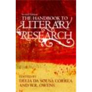 The Handbook to Literary Research by da Sousa Correa; Delia, 9780415485005