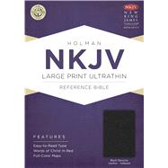 NKJV Large Print UltraThin Reference Bible, Black Genuine Leather Indexed by Holman Bible Staff, 9781433645013