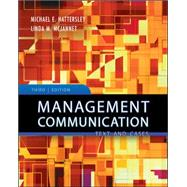 Management Communication: Principles and Practice by Hattersley, Michael; McJannet, Linda, 9780073525051