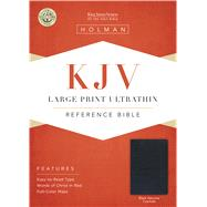 KJV Large Print Ultrathin Reference Bible, Black Genuine Leather by Holman Bible Staff, 9781433645051