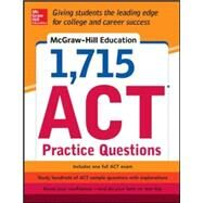 McGraw-Hill Education 1,715 ACT Practice Questions by Johnson, Drew, 9780071835053