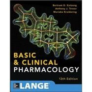 Basic and Clinical Pharmacology 13 E by Katzung, Bertram; Trevor, Anthony, 9780071825054