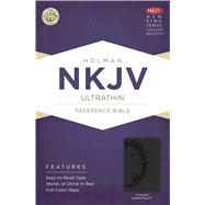 NKJV Ultrathin Reference Bible, Charcoal LeatherTouch by Holman Bible Staff, 9781433615078