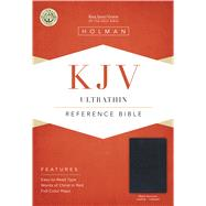KJV UltraThin Reference Bible, Black Genuine Leather Indexed by Holman Bible Staff, 9781433645099