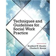 Techniques and Guidelines for Social Work Practice by Bradford W. Sheafor; Charles R. Horejsi, 9780205965106