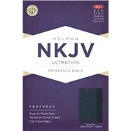 NKJV Ultrathin Reference Bible, Slate Blue LeatherTouch Indexed by Unknown, 9781433615108