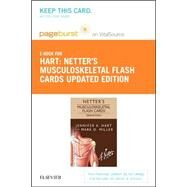 Netter's Musculoskeletal Flash Cards - Pageburst E-book on Vitalsource Retail Access Card by Hart, Jennifer, 9780323375115