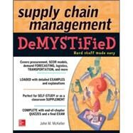 Supply Chain Management Demystified by McKeller, John M., 9780071805124
