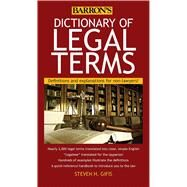 Barron's Dictionary of Legal Terms by Gifis, Steven H., 9781438005126