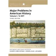Major Problems in American History, Volume I by Cobbs, Elizabeth; Blum, Edward J.; Gjerde, Jon, 9780495915133