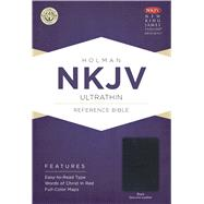 NKJV UltraThin Reference Bible, Black Genuine Leather by Holman Bible Staff, 9781433645143
