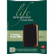 Life Application Study Bible: New Living Translation, TuTone Black / Brown Portfolio LeatherLike by , 9781414375151