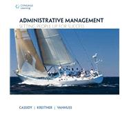 Administrative Management Setting People Up for Success by Cassidy, Charlene; Kreitner, Bob; VanHuss, Susie, 9781133365174