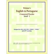 Webster's English to Portuguese Crossword Puzzles: Level 1 by ICON Reference, 9780497255176