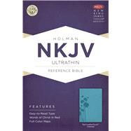 NKJV Ultrathin Reference Bible, Teal LeatherTouch Indexed by Holman Bible Staff, 9781433615184
