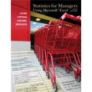 Statistics for Managers using MS Excel by Levine, David M.; Berenson, Mark L.; Krehbiel, Timothy C.; Stephan, David F., 9780137035199