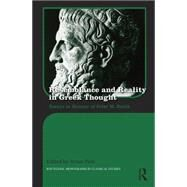 Resemblance and Reality in Greek Thought: Essays in Honor of Peter M. Smith by Park; Arum, 9781138955226