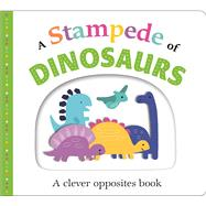 Picture Fit Board Books: A Stampede of Dinosaurs (Large) An Opposites Book by Priddy, Roger, 9780312525248