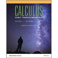 Calculus: Early Transcendentals Single Variable by Anton, 9781118885277