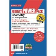 Geometry Power Pack: Barron's Regents Exams and Answers + Let's Review: Geometry by Leff, Lawrence S., 9781438075280
