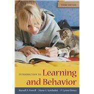Introduction to Learning and Behavior by Powell, Russell A.; Symbaluk, Diane G.; Honey, P. Lynne, 9780495595281