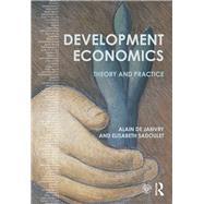 Development Economics: Theory and practice by de Janvry; Alain, 9781138885295