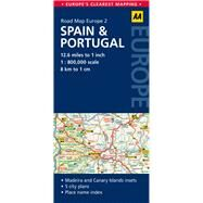 AA Road Map Spain & Portugal by Automobile Association (Great Britain), 9780749575304